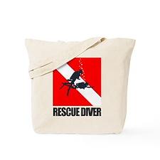 Rescue Diver (blk) Tote Bag