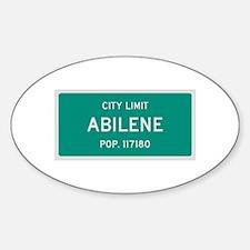 Abilene, Texas City Limits Decal