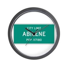 Abilene, Texas City Limits Wall Clock
