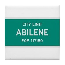 Abilene, Texas City Limits Tile Coaster