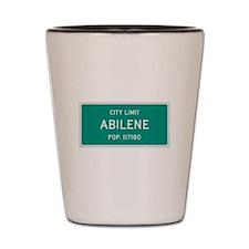 Abilene, Texas City Limits Shot Glass