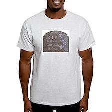 Habeas Corpus R.I.P. Ash Grey T-Shirt