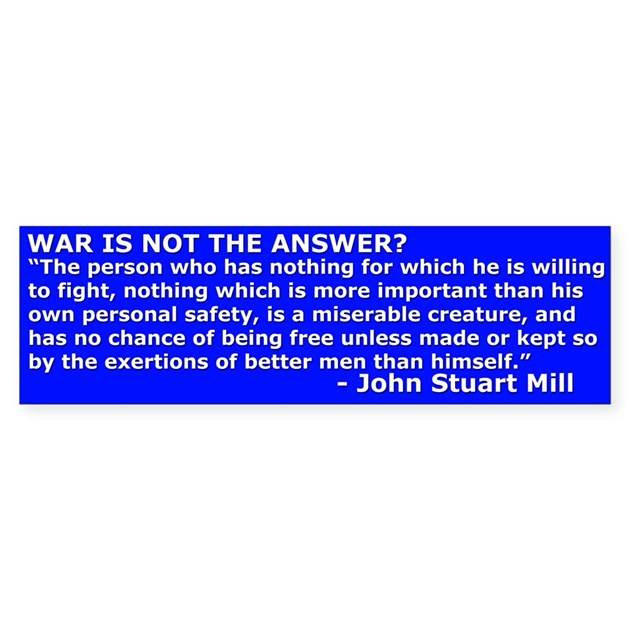 war is not the answer essay Scoring guidelines and notes for long essay question 3 evaluate the extent to which the mexican-american war (1846–1848) marked a turning point in the debate over slavery in the united states.