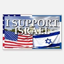 I Support Israel Rectangle Decal
