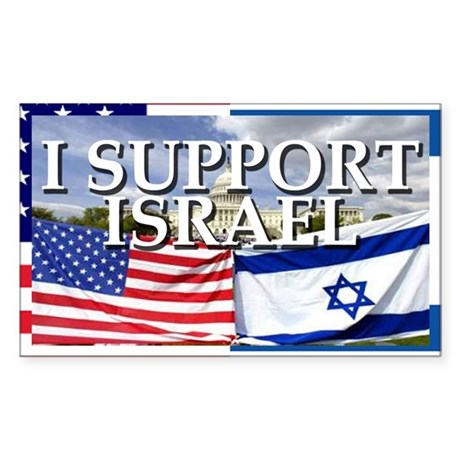 I Support Israel Rectangle Sticker