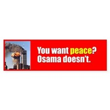 You want Peace? Bumpersticker