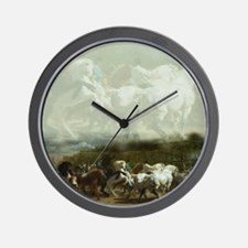 Rosa Bohneur Horse Fair 2 Wall Clock