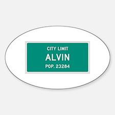 Alvin, Texas City Limits Decal