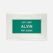Alvin, Texas City Limits Rectangle Magnet