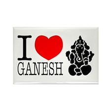 I Love Ganesh Rectangle Magnet