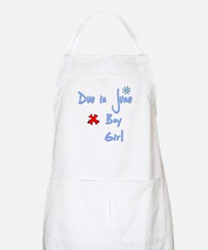 Due in June Boy BBQ Apron