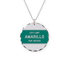 Amarillo, Texas City Limits Necklace