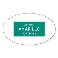 Amarillo, Texas City Limits Decal
