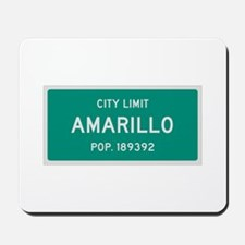 Amarillo, Texas City Limits Mousepad