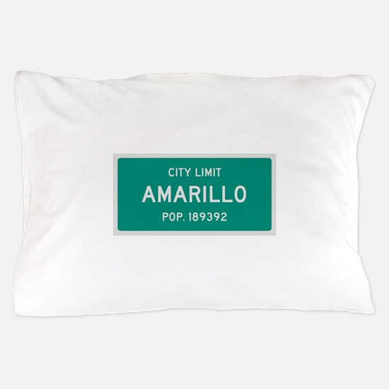 Amarillo, Texas City Limits Pillow Case