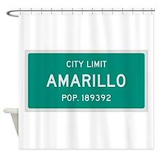Amarillo, Texas City Limits Shower Curtain