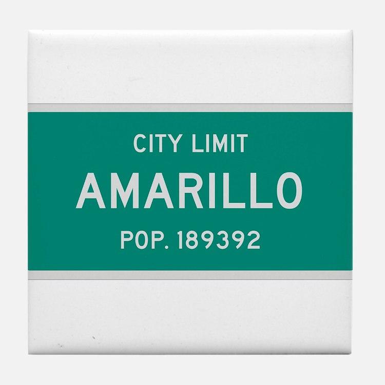 Amarillo, Texas City Limits Tile Coaster