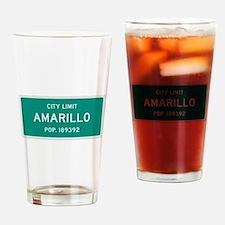 Amarillo, Texas City Limits Drinking Glass
