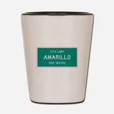 Amarillo, Texas City Limits Shot Glass