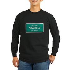 Amarillo, Texas City Limits Long Sleeve T-Shirt