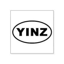 Yinz Oval Bumper Sticker