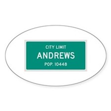 Andrews, Texas City Limits Decal