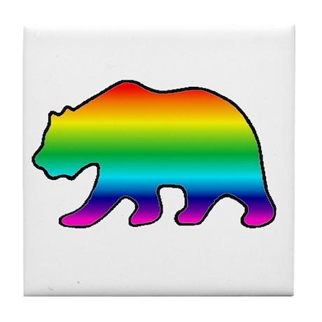 Tile Coaster - Rainbow Bear 1