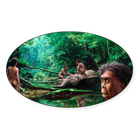 Homo floresiensis - Sticker (Oval 10 pk)
