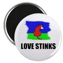 LOVE STINKS DOG CARTOON LOOK Magnet