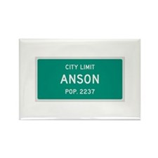 Anson, Texas City Limits Rectangle Magnet (10 pack