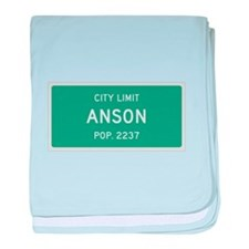 Anson, Texas City Limits baby blanket