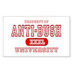 Anti-Bush University Rectangle Sticker