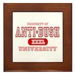 Anti-Bush University Framed Tile