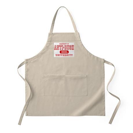 Anti-Bush University BBQ Apron
