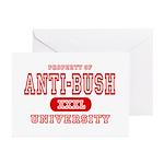 Anti-Bush University Greeting Cards (Pk of 10)