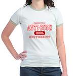 Anti-Bush University Jr. Ringer T-Shirt