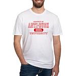 Anti-Bush University Fitted T-Shirt