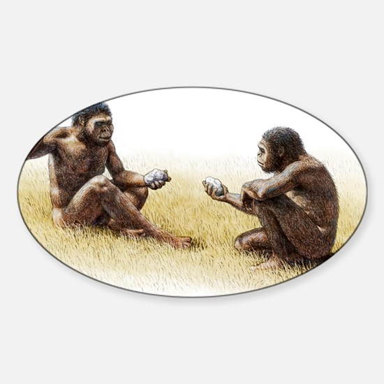 Paranthropus robustus - Sticker (Oval 10 pk)