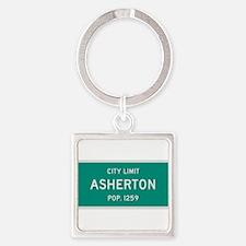 Asherton, Texas City Limits Square Keychain