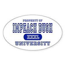 Impeach Bush University Oval Decal