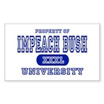 Impeach Bush University Rectangle Sticker