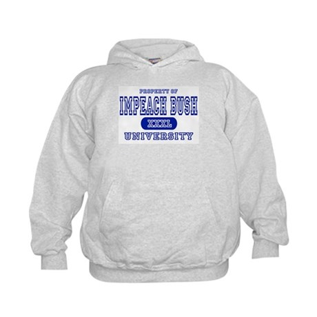 Impeach Bush University Kids Hoodie