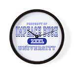 Impeach Bush University Wall Clock