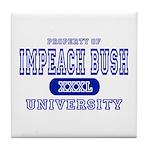 Impeach Bush University Tile Coaster
