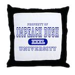 Impeach Bush University Throw Pillow