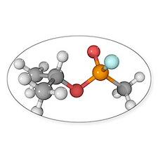Sarin nerve gas molecule - Decal