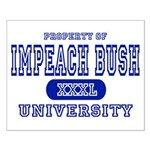 Impeach Bush University Small Poster