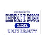 Impeach Bush University Mini Poster Print