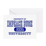 Impeach Bush University Greeting Cards (Package of