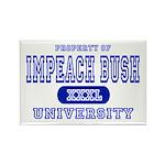 Impeach Bush University Rectangle Magnet